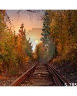 Autumn Railway Computer Printed Photography Backdrop S-785