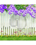 Neat And Uniform Fence  Computer Printed Photography Backdrop XLX-074