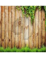 Wood Plank  And Grass  Computer Printed Photography Backdrop XLX-078