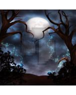 Full moon old trees Computer Printed Photography Backdrop ZJZ-418