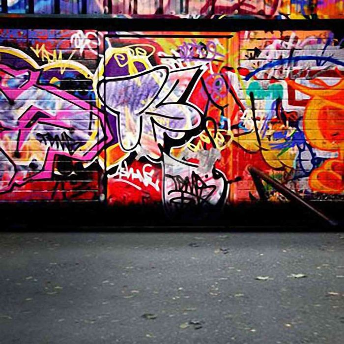 GladsBuy Doodle Painted Street 8 x 12 Computer Printed Photography Backdrop Graffiti Theme Background HY-CM-2155