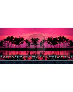 palm tree Computer Printed Dance Recital Scenic Backdrop ACP-120