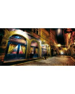 Romantic street Computer Printed Dance Recital Scenic Backdrop ACP-012