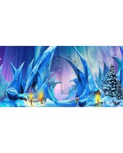 ice pillar Computer Printed Dance Recital Scenic Backdrop ACP-252