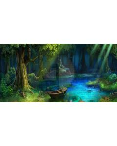 peaceful forest Computer Printed Dance Recital Scenic Backdrop ACP-274