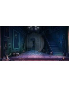 mysterious home Computer Printed Dance Recital Scenic Backdrop ACP-294