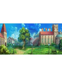 country house Computer Printed Dance Recital Scenic Backdrop ACP-301