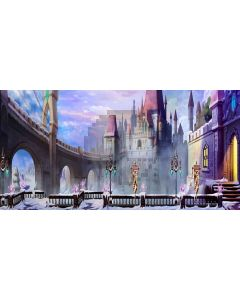 pageantry castle Computer Printed Dance Recital Scenic Backdrop ACP-340