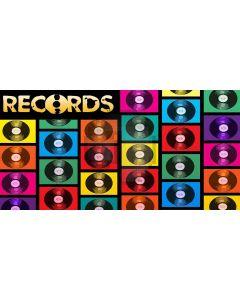 record theme Computer Printed Dance Recital Scenic Backdrop ACP-405