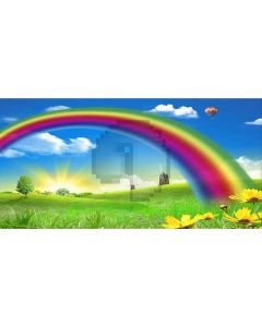 rainbow day Computer Printed Dance Recital Scenic Backdrop ACP-047
