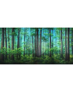 lush forest Computer Printed Dance Recital Scenic Backdrop ACP-490