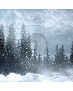 Snowy Mountain Computer Printed Photography Backdrop LMG-005