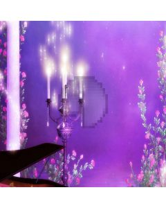 Romantic Candles Computer Printed Photography Backdrop LMG-018