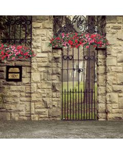 Unique Iron Gate Computer Printed Photography Backdrop S-061