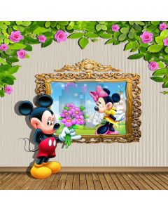 Cartoon Characters Computer Printed Photography Backdrop S-159