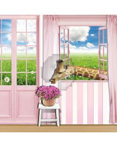 Square Window Computer Printed Photography Backdrop S-160