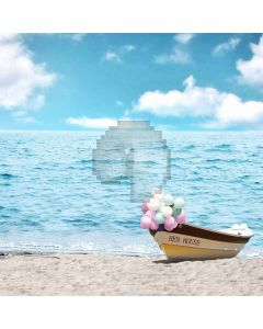 Blue Sea And Sky  Computer Printed Photography Backdrop S-161
