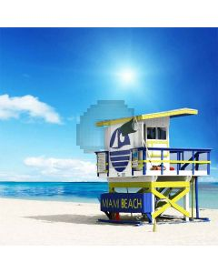 Beach Hut Computer Printed Photography Backdrop S-169