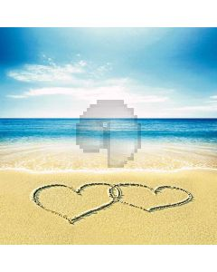 Warm Beach Computer Printed Photography Backdrop S-176