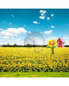 Sunflowers Swing  Computer Printed Photography Backdrop S-211