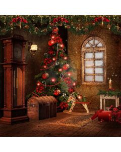 Cute Christmas Tree Computer Printed Photography Backdrop XLX-112