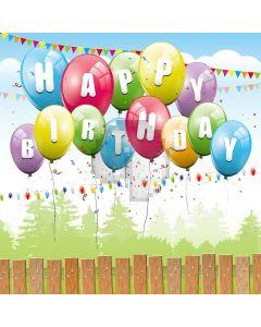 Colored Balloons Digital Printed Photography Backdrop YHA-532