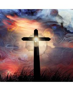 Shining Cross Digital Printed Photography Backdrop YHA-557
