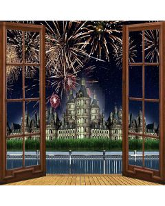 Castle And Firework Digital Printed Photography Backdrop YHB-006