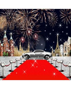 Briliant Red Carpet Digital Printed Photography Backdrop YHB-009