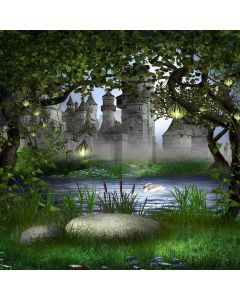 Quiet And Beautiful Castle Digital Printed Photography Backdrop YHB-021