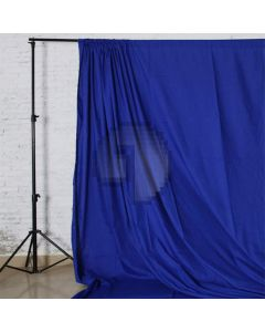 Blue Solid Color Pure Cotton Fabric Chromakey Backdrop