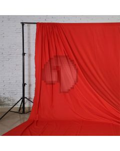 Red Solid Color Pure Cotton Fabric Chromakey Backdrop