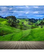 Grassland Tree Floor Computer Printed Photography Backdrop ABD-672