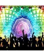 Stage Dancer Colors Computer Printed Photography Backdrop ABD-961