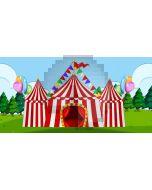 Circus Tree Computer Printed Dance Recital Scenic Backdrop ACP-1186
