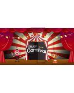 Carnival Clown Computer Printed Dance Recital Scenic Backdrop ACP-1187