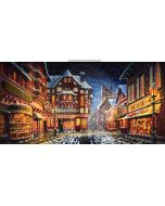 christmas street Computer Printed Dance Recital Scenic Backdrop ACP-510
