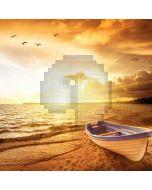 Sea Boat Bird Computer Printed Photography Backdrop AUT-339