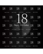Birthday Black Computer Printed Photography Backdrop AUT-691