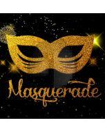 Masquerade Mask Gold Computer Printed Photography Backdrop HXB-198