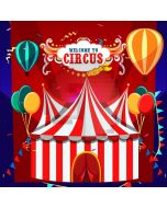 Circue Show Time Balloons Flags Computer Printed Photography Backdrop MSL-344