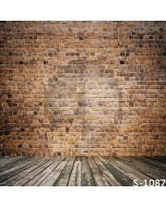 Bricks And Wooden Wall Computer Printed Photography Backdrop S-1087