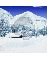 Snowy Mountains Computer Printed Photography Backdrop S-1829