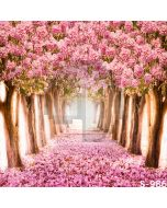 Flowers Road Computer Printed Photography Backdrop S-986