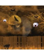 Full moon fence bats Computer Printed Photography Backdrop ZJZ-509