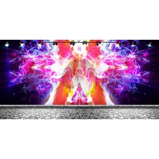 Fire Colors Computer Printed Dance Recital Scenic Backdrop ACP-1283