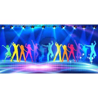 Stage Light Dancers Computer Printed Dance Recital Scenic Backdrop ACP-1285
