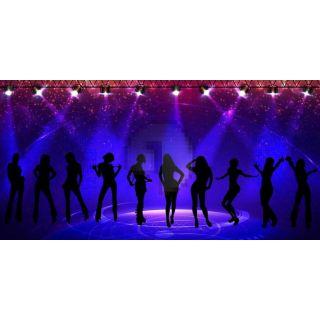 Stage Light Dancers Computer Printed Dance Recital Scenic Backdrop ACP-1308