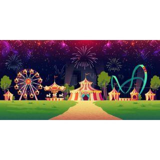 Circus Entertainment Tree Road Computer Printed Dance Recital Scenic Backdrop ACP-1309