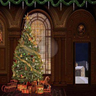 GladsBuy Huge Bell 6 x 9 Digital Printed Photography Backdrop Christmas Theme Background YHA-451